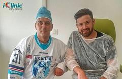 hokejista Michal Valent operace očí