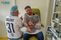 hokejista Michal Valent operace očí iClinic 2